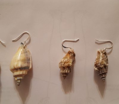 Handmade Sterling Silver Seashell Earrings